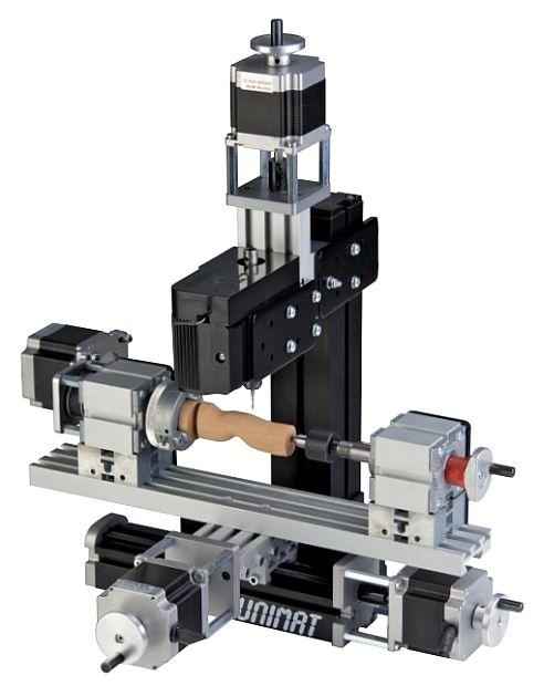 Inklusive aller Teile zum Aufbau von: UNI-DREH, UNI-FRAES-H3, UNI-FRAES-V3 und UNIFRAES-4 zusätzlich mit Querplatte für lange 3D Teile