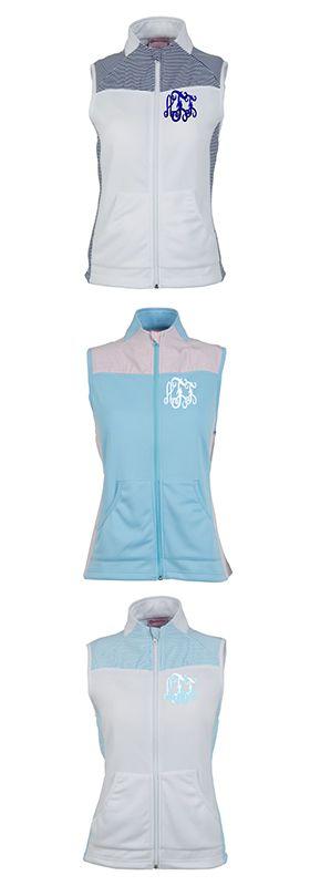 Marleylilly.com - Monogrammed Seersucker Breezy Vest #seersucker #preppy