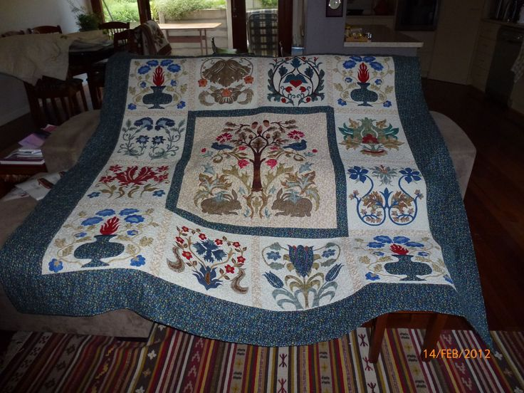 Morning Glory - a pattern by Michele Hill from the book More William Morris Applique