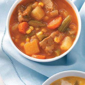 Satisfying Beef Stew Recipe from Taste of Home -- shared by Abbey Mueller, Enid Oklahoma