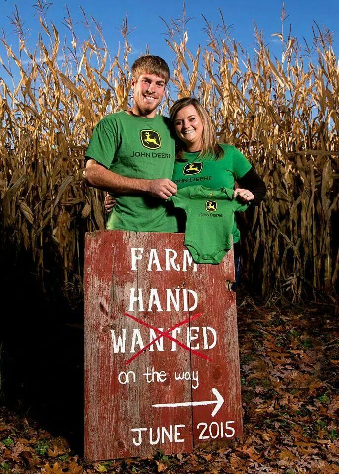 Farm Hand Wanted...On The Way! Cute Country Pregnancy Announcement