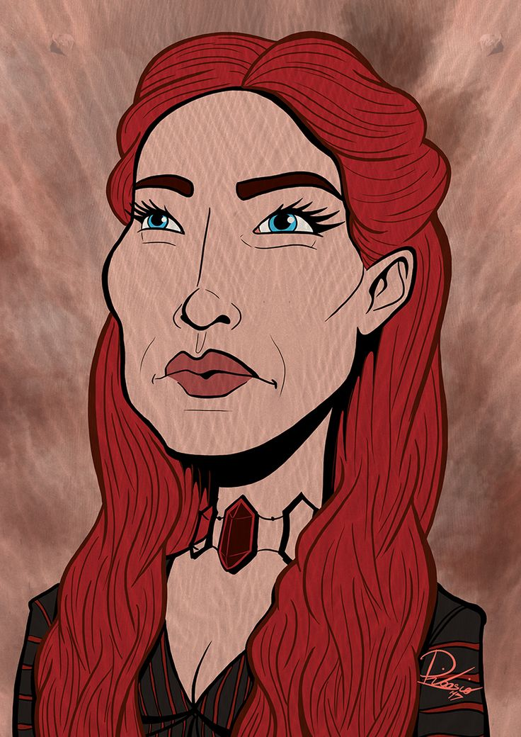 Carice Van Houten as Melisandre in #gameofthrones - caricature by Ribosio