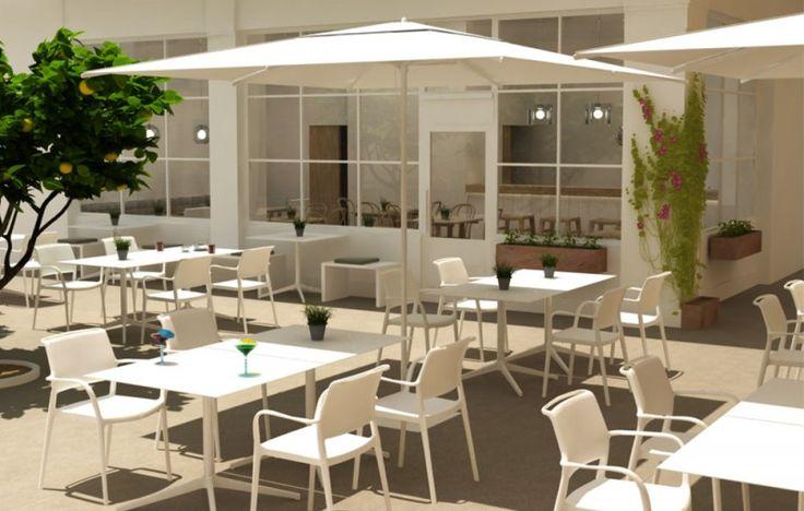 17 mejores ideas sobre mobiliario para cafeteria en for Mobiliario para cafes