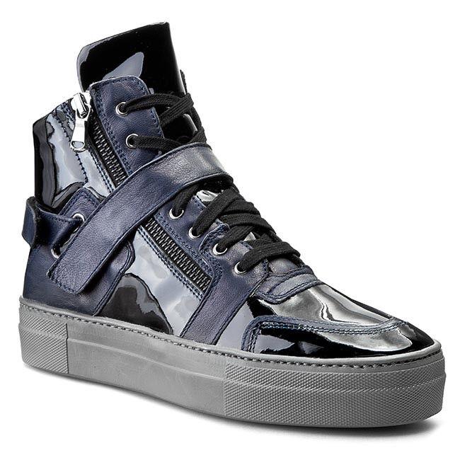 Sneakersy LEA FOSCATI - 152L6205VNPX Vernice Nero