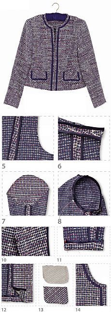 Pattern Chanel jacket |  WomaNew.ru - sewing lessons.