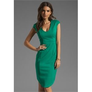 Black Halo Demetrio Dress in Green