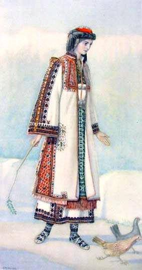 Macedonian Costume:  Greek Peasant Woman's #Dress (#Macedonia, Hasia) northern #greece.
