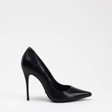 SCHUTZ 2091 Black Calf Leather Heels Women Shoes