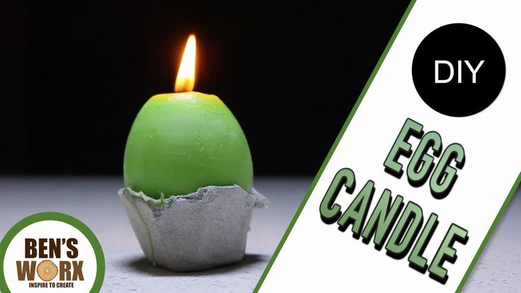 DIY EGG CANDLE  **CANDLE MAKING** - YouTube
