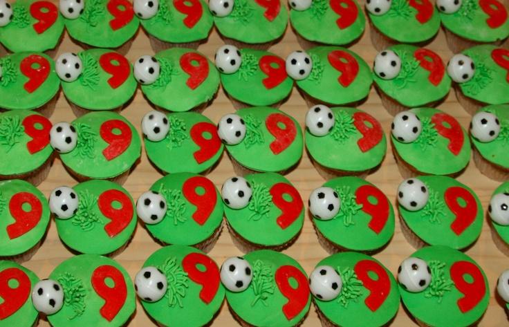 Cupcakes voetbal