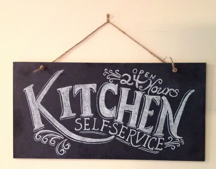 Wall Art Signs Kitchen : Kitchen chalkboard sign wall art typography