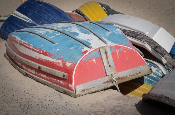 Upturned boats, Cornwall