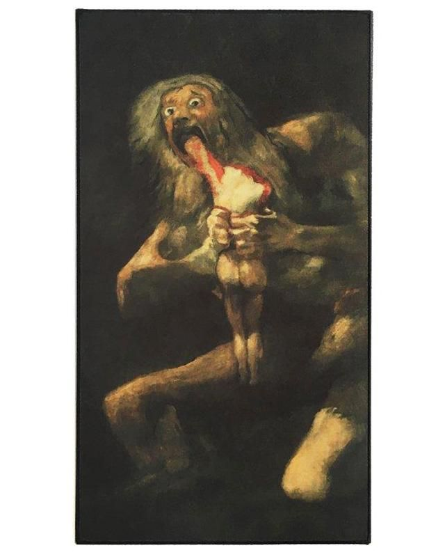 Saturn Devouring His Son Large Back Patch Art Francisco Goya
