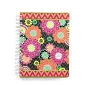 "Vera Bradley 2015 Agenda in Ziggy Zinnia | Vera Bradley SKU #13792163  | 7 ½"" x 8 ¾"" x 1""  Details      18-month agenda runs from July 2014 to December 2015     Spiral binding, date-marking stickers and room for notes     Includes monthly and weekly spreads, laminated tabs and bookmark     Features fun medley of three new Back to Campus colors on inside"
