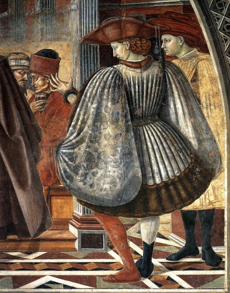 Domenico di Bartolo - Il Banchetto dei poveri, dettaglio - 1443-1444 - Siena, Santa Maria della Scala – Sala del Pellegrinaio
