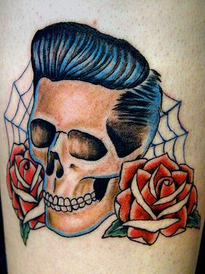 Rockabilly Tattoos | Rockabilly Skull Tattoo Picture