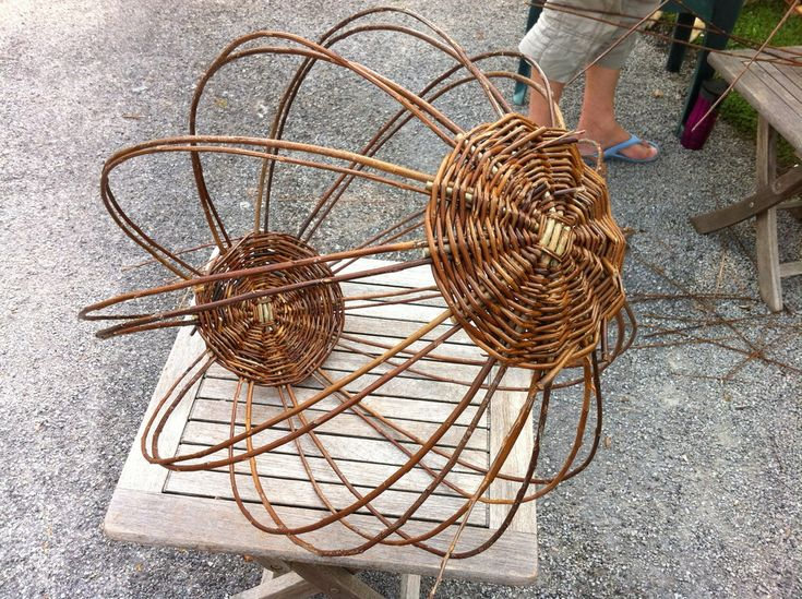 Basket Weaving With Willow Branches : Weaving with willow part two gardens trees and home