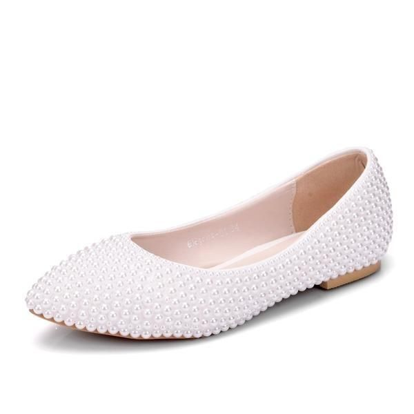 New Handmade Pearl White Wedding Flats Bridelily Wedding Flats Beach Wedding Shoes Navy Wedding Shoes