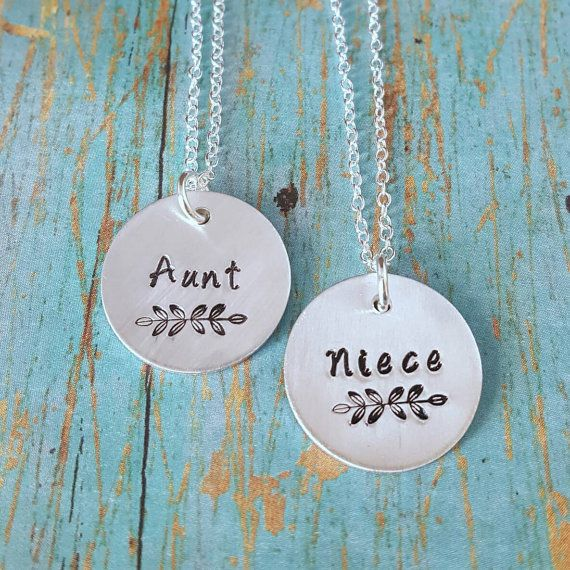 Aunt and Niece Necklaces  Aunt and Niece  Gift by tagsandthingsbyk                                                                                                                                                                                 More