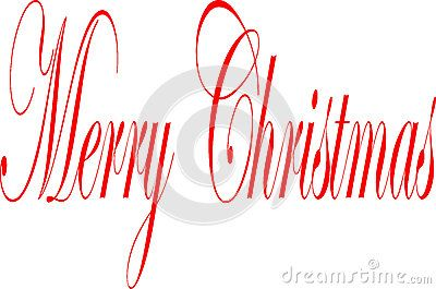 Merry Christmas Writen In English - Merry Christmas writen in English written on a white Background