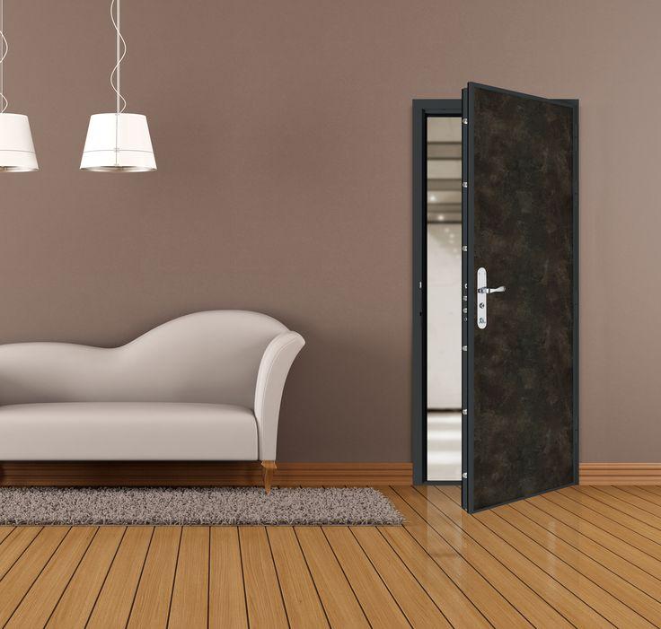 Porte palière Diamant® 3 de Picard Serrures : le meilleur de la sécurité, du confort et du design #porte #portedentree #appartement #sécurité #confort #design #salon #canapé #picardserrures