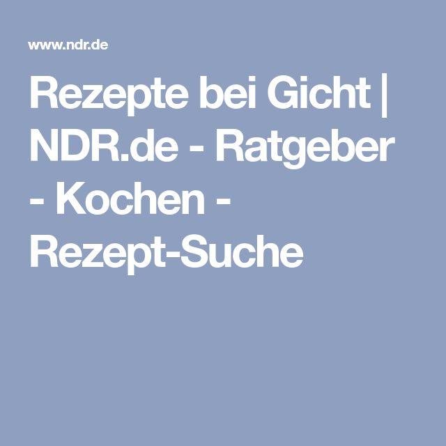 Rezepte bei Gicht   NDR.de - Ratgeber - Kochen - Rezept-Suche