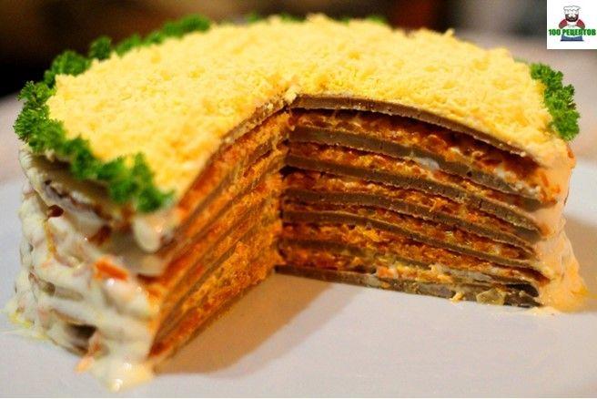 100 РЕЦЕПТОВ: Печеночный торт