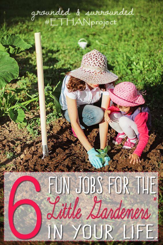 6 fun jobs for little gardeners