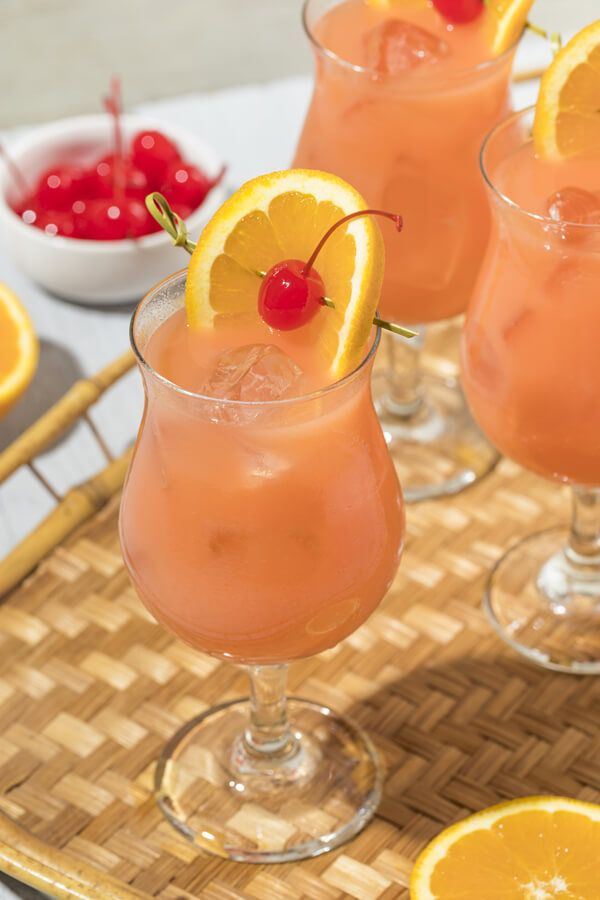 Copycat Chili S Calypso Cooler Cocktail Made With Spiced Rum Peach Schnapps Grenadine Orange Juice Ice Ora Hurricane Cocktails Hurricane Cocktail Recipe