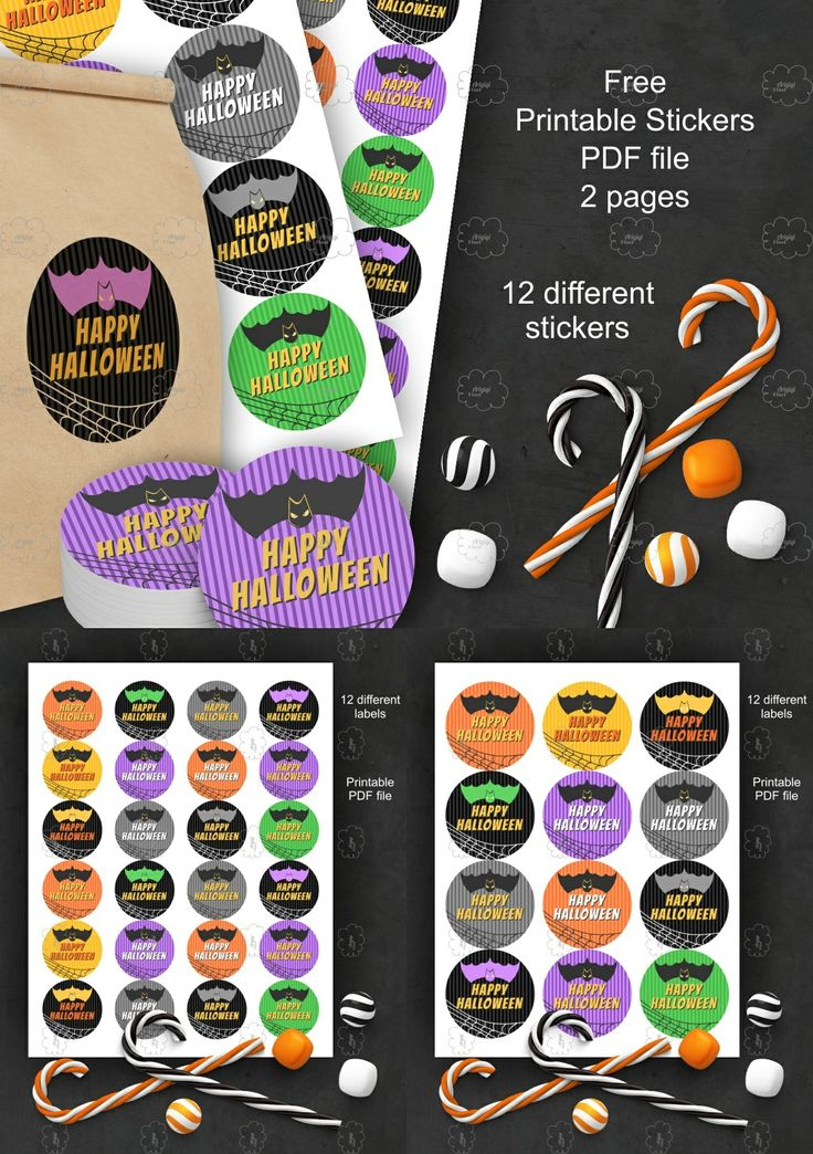 Freebie Happy Halloween Printable Stickers PDF file #Freebie #Happy #Halloween #Printable #Stickers #PDF #download