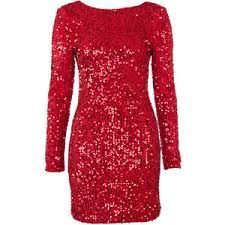 Image result for long red sequin dress with sleeves