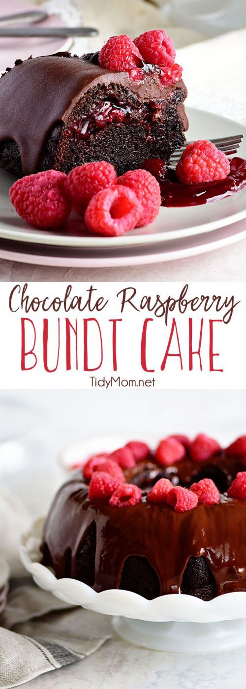 Chocolate Bundt Cake With Raspberry Filling