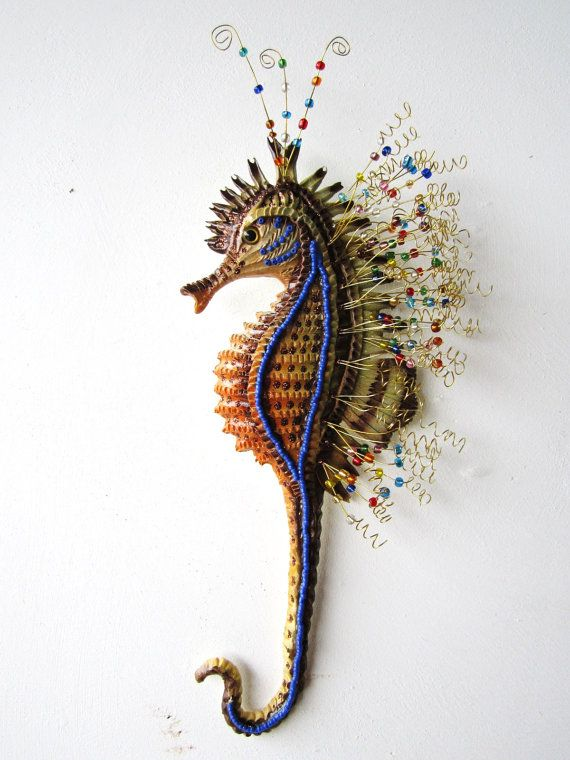 Seahorse art wall sculpture | Art walls, Wall sculptures ...