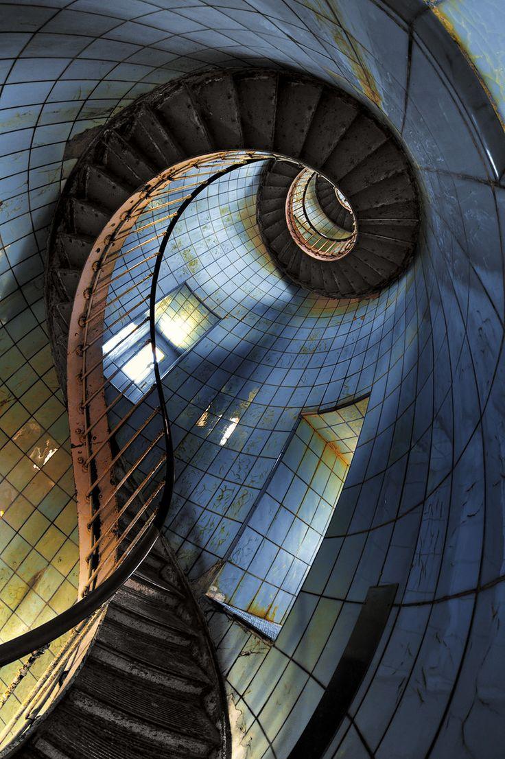 escalier Phare de la Coubre - France.