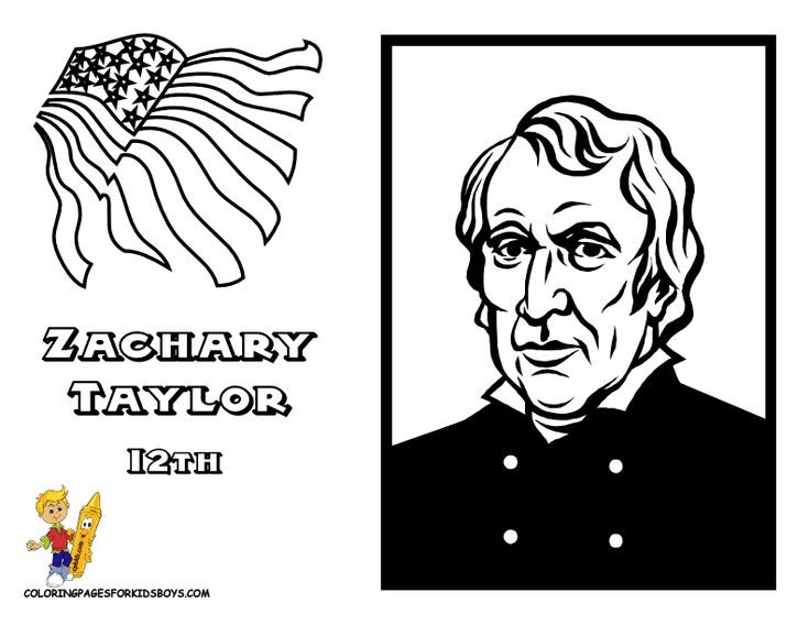 all 44 presidents coloring pages - photo#19