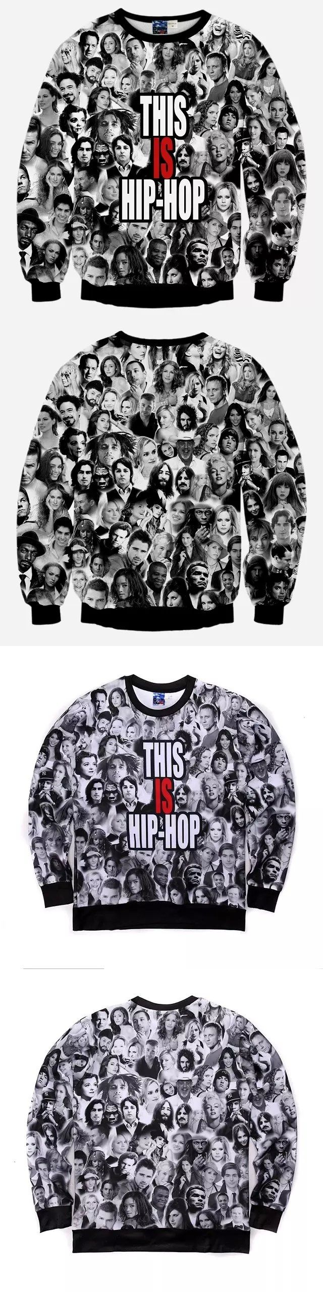 2015 new women/men 3d hip hop hoodies eminem/tupac print sweatshirt moleton masculino tracksuit sudaderas hombre sportwear mujer