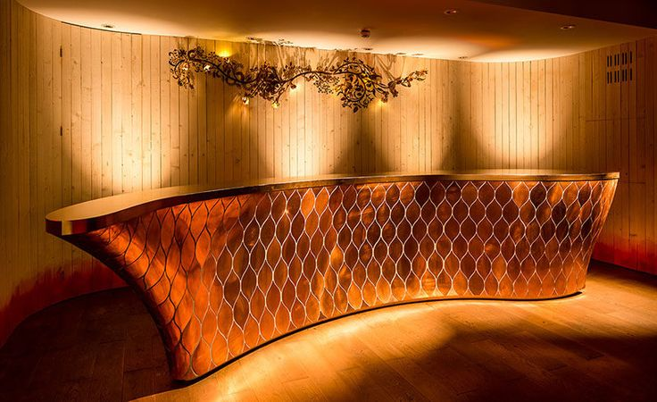 This Bar Was Designed With A Skin Of Copper Scales