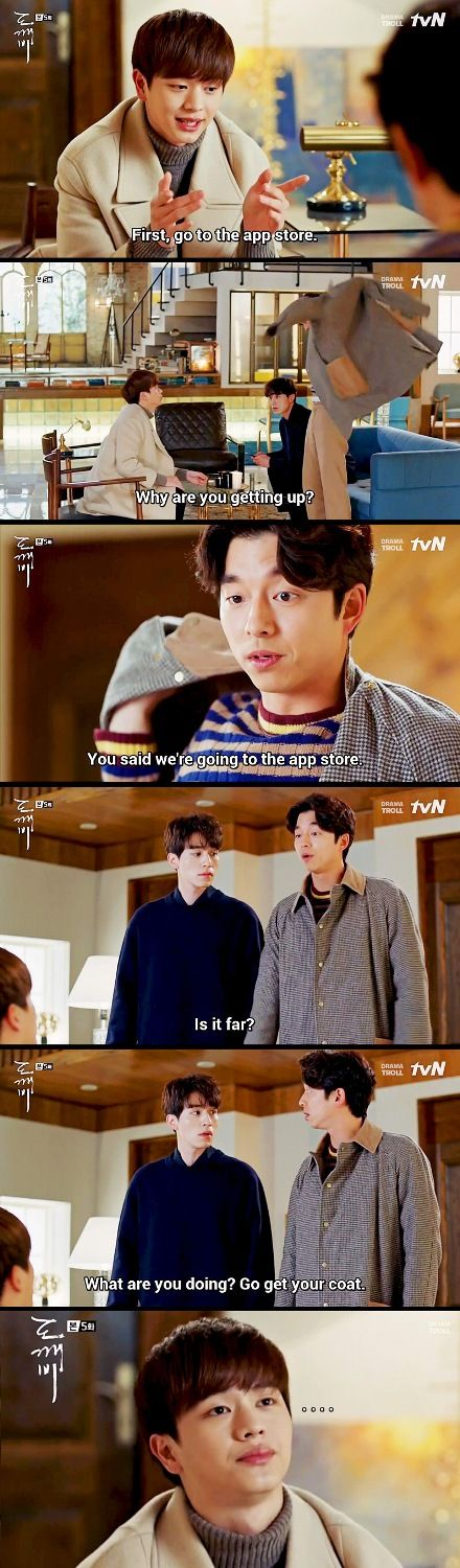 Teaching the elders how to use smartphone. || Goblin the lonely and great god || kdrama Gong Yoo