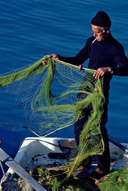 Fisherman - Crete, Greece by josullivan.59, via Flickr