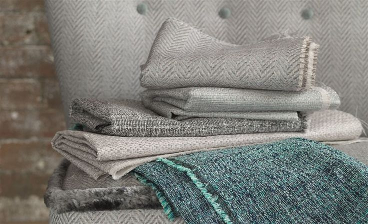 Bressay Fabrics by Designers Guild are very characterful and robust and extremely versatile for use throughout the home. Available in a palette of neutral colours #interior #grey #fabric #texture