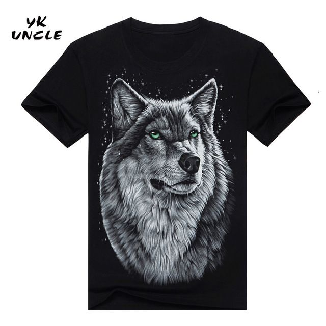 Check it on our site 2016 Summer Style Brand Men's Cotton Short Sleeve T-shirt Fashion O-neck Casual Moon Wolf 3D Printed T shirt M-XXXL,YK UNCLE just only $13.98 with free shipping worldwide  #tshirtsformen Plese click on picture to see our special price for you