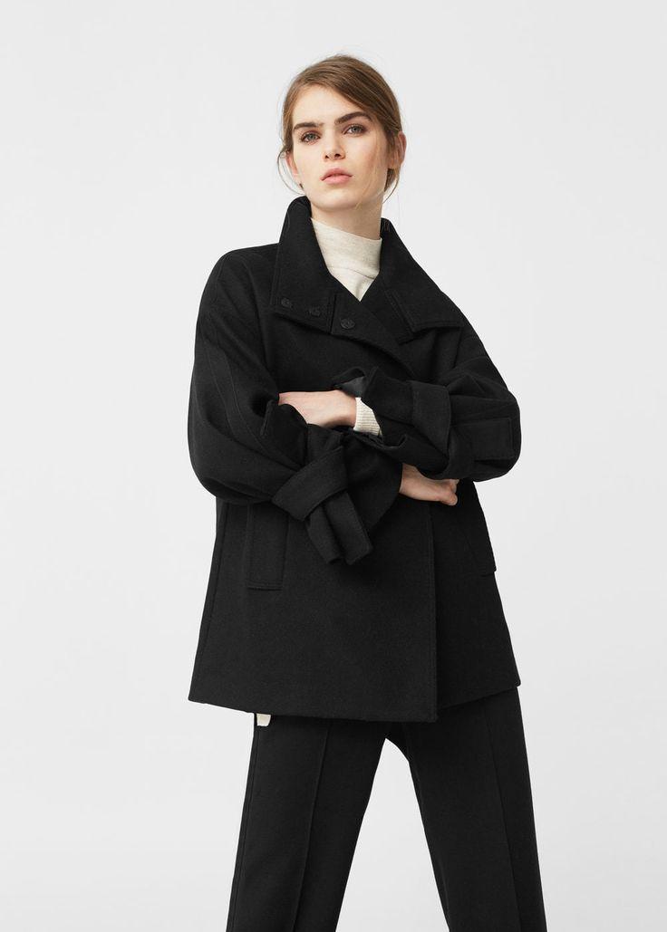 Bow wool coat | MANGO