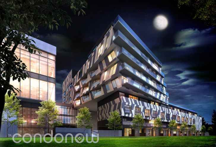 Enigma Lofts Building Exterior Night
