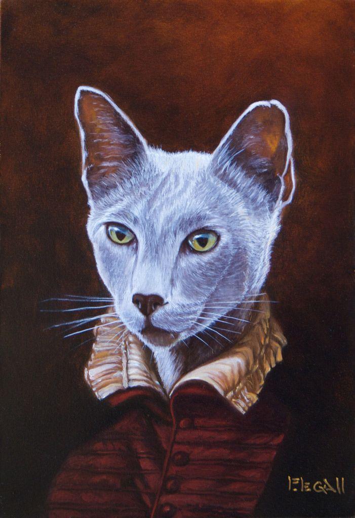 Petit-gris - Peinture chat en costume de Franck Legall