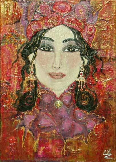 I love the pictures from this artist and I hope she will find her own style in the end, and not kopi Gustav Klimt. She is very talented and already HAVE her own style, but there is still  element from Klimt and it's not necessary for her.
