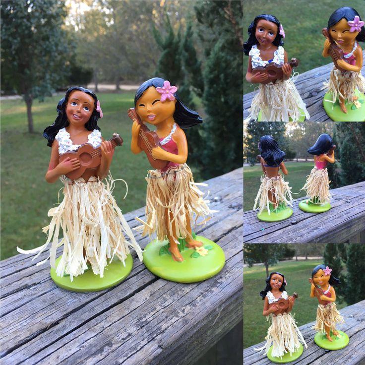 Vintage Dancing Hula Girls--Hawaiian Hawaiana Souvenir--Kitsch-- Tabletop Hula Girls by AlloftheAbove on Etsy
