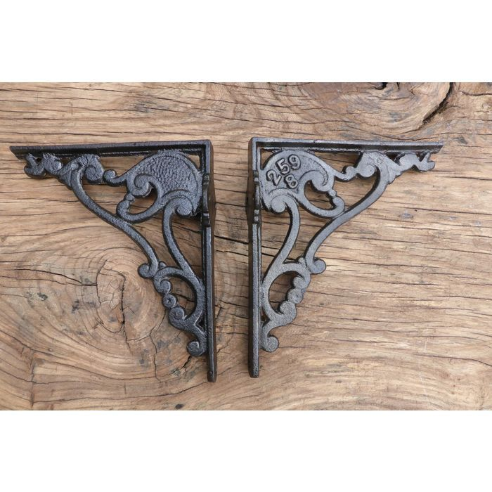 """6 3/4"""" Antique Ornate High Level Cast Iron Toilet Cistern Brackets Listing in the Door Accessories,Architectural Antiques,Antiques Category on eBid United Kingdom 