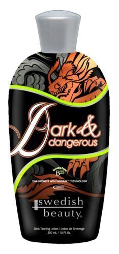 Dark & Dangerous DHA B25x Bronzer Coolant w/TanDark 10oz by Swedish Beauty. $28.98. Milk & Yogurt Base Formula: Richer and smoother foundation for quickest delivery of dark color result.   powerful, long-lasting DHA bronzer with a refreshing touch of coolant to help reduce after-tan odor. Let the antioxidant-rich ingredients work for you while intense bronzers and DHA create instant dark  tan.        B25 Bronzing Power: Premium bronzing blend with DHA, tyrosine and banana     ...