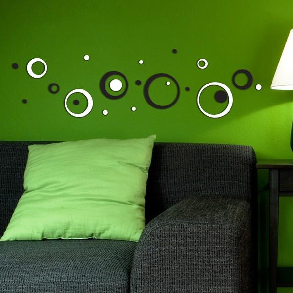 B Circles foam wallstickers
