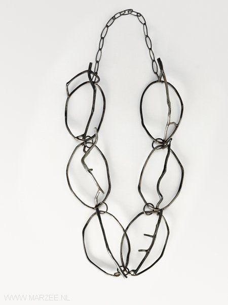 Dorothea Prühl - Weihnachten (Christmas), 2002 necklace, iron - L of one shape 10 cm